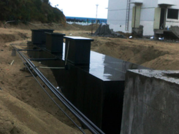 地埋式一体化污水处理设备安装现场