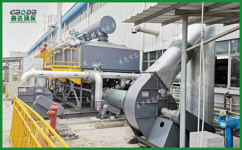 深圳公司涂胶废气吸附浓缩+催化燃烧废气处理工程